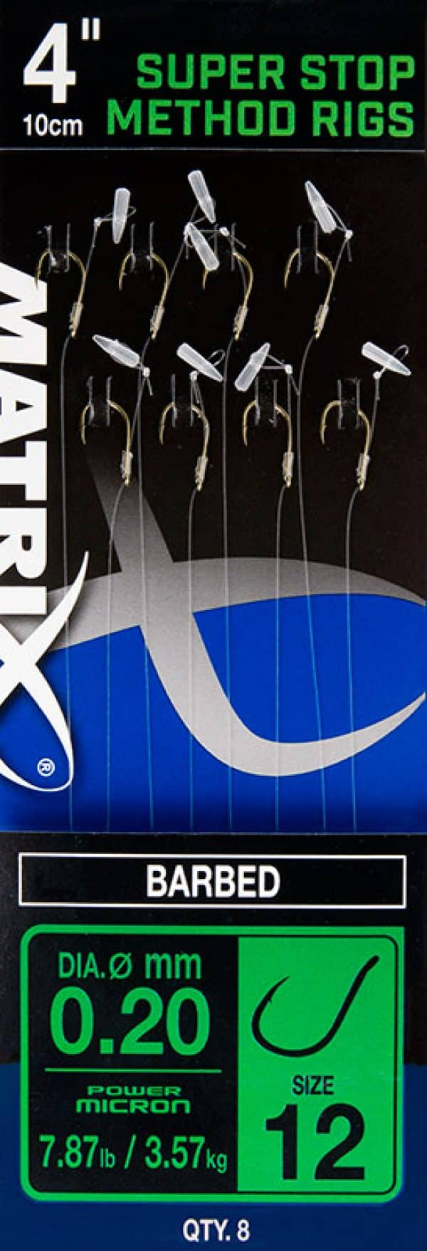 "MATRIX 4"" FEEDER RIGGER METHOD RIGS SIZE 12 BARBED X 8 SPIKE (GRR013)"