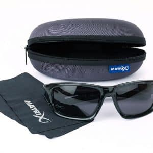 MATRIX GLASSES - WRAPS TRANS BLACK / GREY LENSE (GSN001)