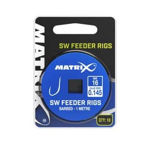 MATRIX 1M SW FEEDER RIGS SIZE 10 / 0.165 BARBED X 10 (GRR033)