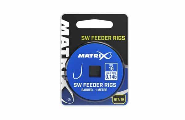 MATRIX 1M SW FEEDER RIGS SIZE 10 / 0.165 BARBED X 10 (GRR033)