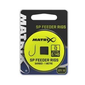 MATRIX 1M SP FEEDER RIGS 14/0.145 BARBED X10 (GRR041)