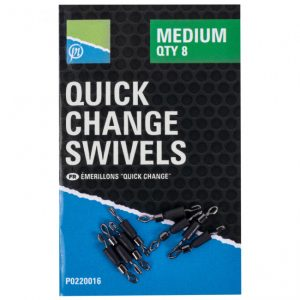 PRESTON QUICK CHANGE SWIVELS (P0220015-16)