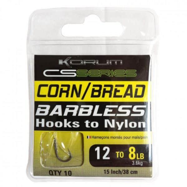 KORUM BARBLESS HOOKS TO NYLON - SWEETCORN/BREAD (KCSHNCB)