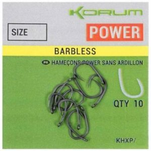 KORUM XPERT POWER BARBLESS HOOKS (KHXP)
