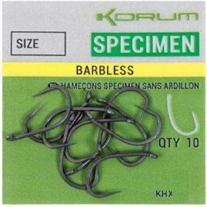 KORUM XPERT SPECIMEN BARBLESS HOOKS (KHXSN)