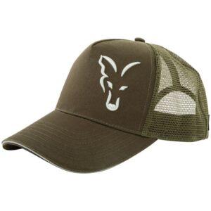 FOX COLLECTION GREEN & SILVER TRUCKER CAP (CPR995)