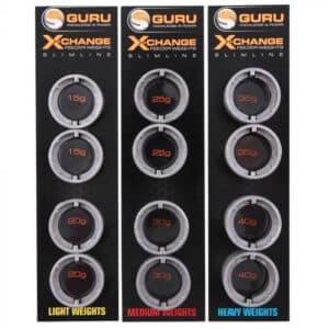 GURU X-CHANGE SLIMLINE DISTANCE FEEDER WEIGHTS (GAD22-24)