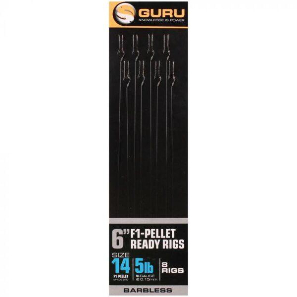 GURU F1 PELLET POLE RIGS 15CM (GRR055-059)