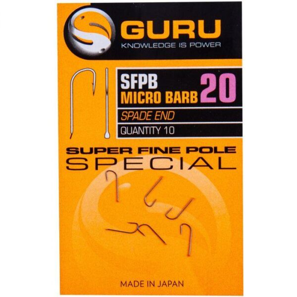 GURU SUPER FINE POLE HOOKS (GSFP16-22)